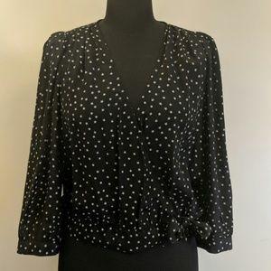 Madewell Starry Silk Wrap Blouse